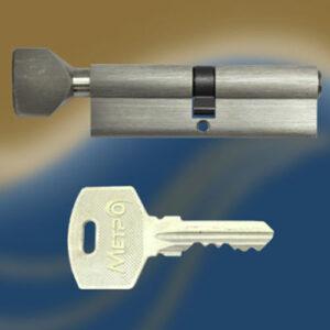 Цилиндровый механизм ключ-вертушка NW80 МЕТРО