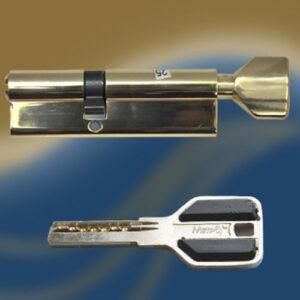 Цилиндровый механизм перфоключ-вертушка со смещенным центром CW90 35/55 МТР