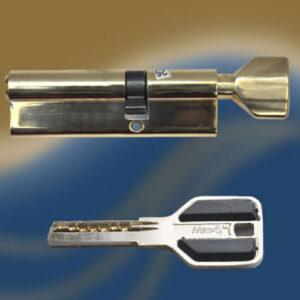 Цилиндровый механизм перфоключ-вертушка со смещенным центром CW90 55/35 МТР