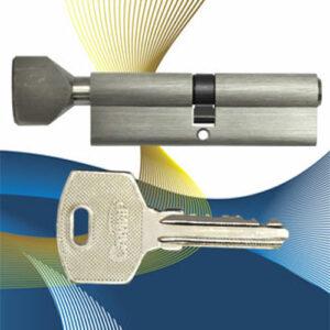 Цилиндровый механизм ключ-вертушка NW60 САМИР