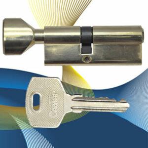 Цилиндровый механизм ключ-вертушка со смещенным центром NW80 (35-45) СМР