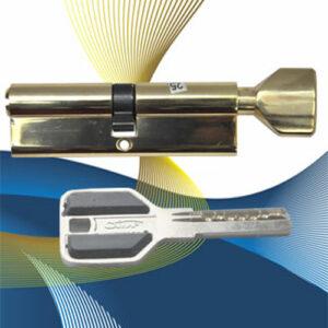 Цилиндровый механизм перфоключ-вертушка CW70 САМИР