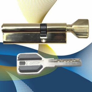 Цилиндровый механизм перфоключ-вертушка со смещенным центром CW90 (35-55) СМР