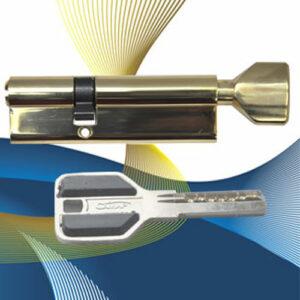 Цилиндровый механизм перфоключ-вертушка со смещенным центром CW90 (55/35) СМР