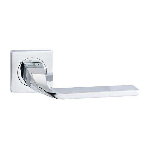 Дверная ручка с квадратной накладкой V12 CP РУЧКА VANTAGE
