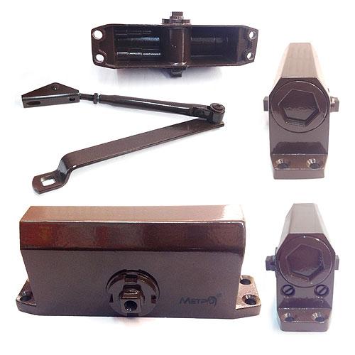Дверной доводчик верхний с зубчатым приводом МЕТРО D50KG